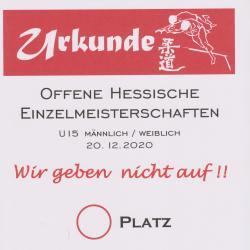 Ausschreibung HEM U15 in Rimbach am 14.11.2020